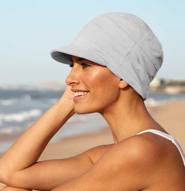 Gorra de verano 100% algodón con protección solar