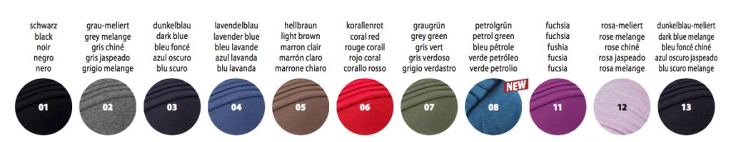 colores de turbantes de bambú para quimioterapia