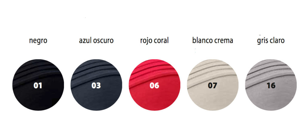 Colores disponibles de gorras de verano