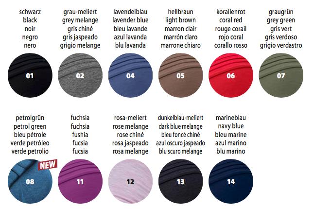 colores disponibles pañuelo modelo 920